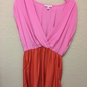 Charlotte Russe Pink/Orange Mini Dress